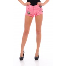 Pink Cargo Shorts - DR441-13