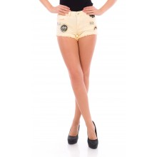 Yellow Cargo Shorts - DR441-46