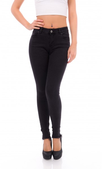 Black Cargo Pants - DR449