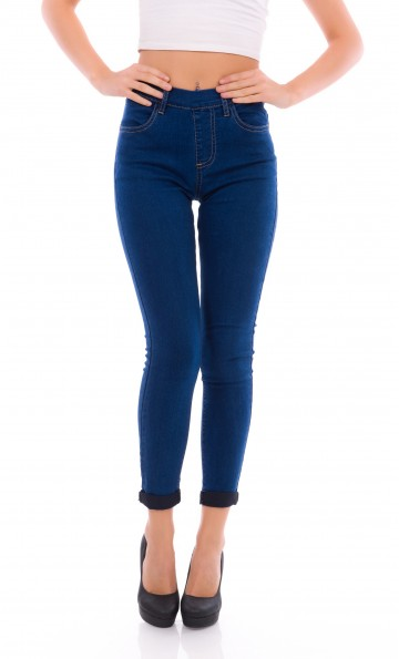 Jeans With Elastic Waist - WL634A